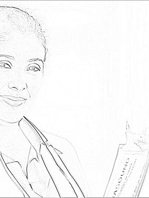 female-doctor-with-clipboard_sketch (1)